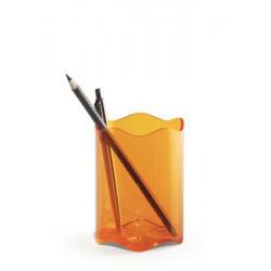 """Írószertartó, műanyag, DURABLE, """"Trend"""", áttetsző narancssárga"""