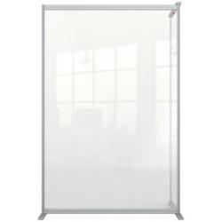 """Kiegészítő panel térelválasztó falhoz, álló, akril, 1200x1800 mm, NOBO """"Premium Plus"""", átlátszó"""