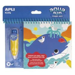 """Színezőfüzet, vízbázisú, APLI """"Aqua Fun"""""""