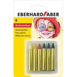 Arcfestő készlet, EBERHARD-CASTELL, mini, 6 különböző szín