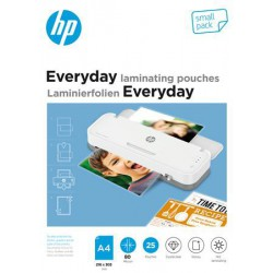 """Meleglamináló fólia, 80 mikron, A4, fényes, 25 db, HP """"Everyday"""""""