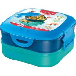 """Uzsonnás doboz, 3 az 1-ben, MAPED PICNIK   """"Concept Kids"""", kék"""