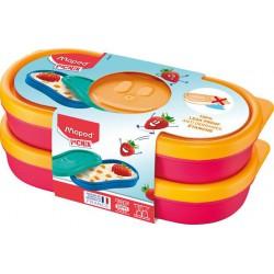 "Uzsonnás doboz, 2 db, MAPED PICNIK  ""Concept Kids Snack"", pink"