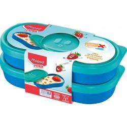 "Uzsonnás doboz, 2 db, MAPED PICNIK  ""Concept Kids Snack"", kék"