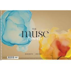 """Vázlatfüzet, spirál, akvarell, A4, 20 lap, 300 g, SHKOLYARYK """"Aquarelle Muse"""""""