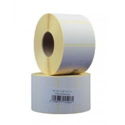 Etikett, thermo, BIZERBA mérlegcímke, 38x58 mm, 1240 etikett/tekercs