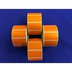 Etikett, thermo, 25x45 mm, 1000 etikett/tekercs, narancs