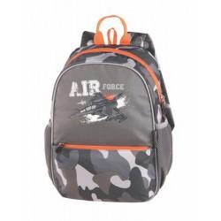 """Hátizsák, PULSE """"Junior Air Force One"""", szürke-narancs"""