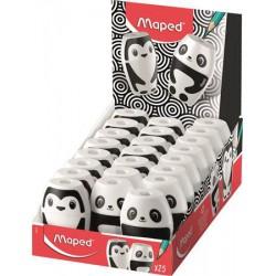 """Hegyező display, egylyukú, tartályos, MAPED """"Shakky Fancy"""", panda és pingvin, vegyes formák"""