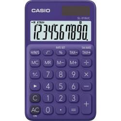 """Zsebszámológép, 10 számjegy, CASIO """"SL 310"""", lila"""