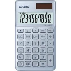 """Zsebszámológép, 10 számjegy, CASIO """"SL 1000"""", kék"""