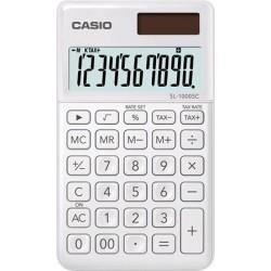 """Zsebszámológép, 10 számjegy, CASIO """"SL 1000"""", fehér"""