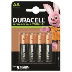 Tölthető elem, AA ceruza, 4x2500 mAh, DURACELL