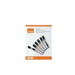 Táblamarker, folyékonytintás, kúpos, 1-3 mm, NOBO, fekete