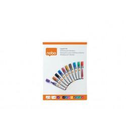 Táblamarker, folyékonytintás, kúpos, 1-3 mm, NOBO, vegyes színek
