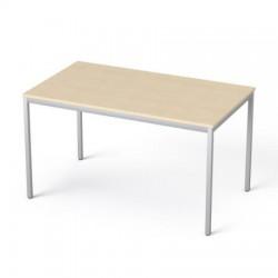 """Általános asztal fémlábbal, 75x130 cm, MAYAH """"Freedom SV-38"""", juhar"""