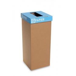 """Szelektív hulladékgyűjtő, újrahasznosított, szlovák felirat, 60 l, RECOBIN """"Office"""", kék"""