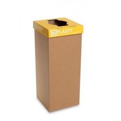 """Szelektív hulladékgyűjtő, újrahasznosított, szlovák felirat, 60 l, RECOBIN """"Office"""", sárga"""
