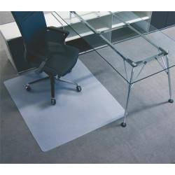 Székalátét, szőnyegre, E forma, 120x130 cm, BSM, áttetsző