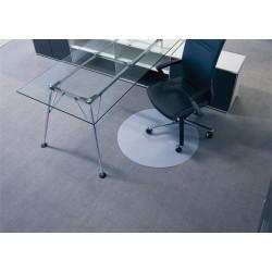 Székalátét, szőnyegre, kerek, 60 cm átmérő, BSM, áttetsző