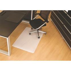 Székalátét, kemény felületre, E forma, 90x120 cm, BSM, áttetsző